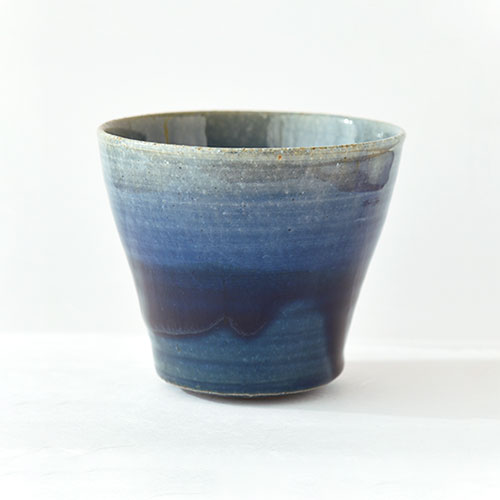 青彩 ロック杯(焼酎カップ)/亀井 紀子(陶工房 もちの木)