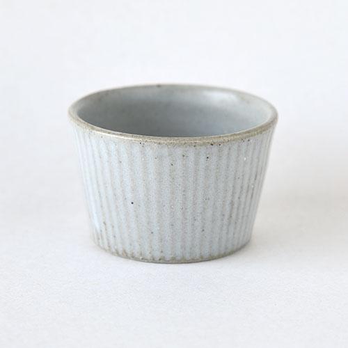 小鉢・深いタイプ【陶器・しのぎ マットホワイト】/森永 淳俊