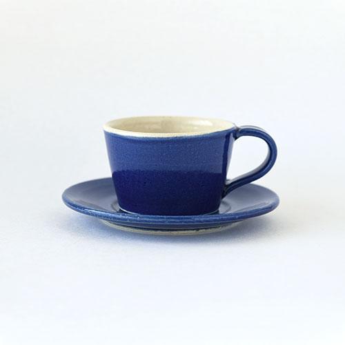 デミカップ&ソーサー【陶器・インディゴブルー】/森永 淳俊