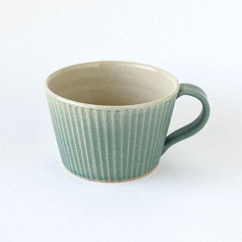 マグカップ【陶器・しのぎ ターコイズ】/森永 淳俊