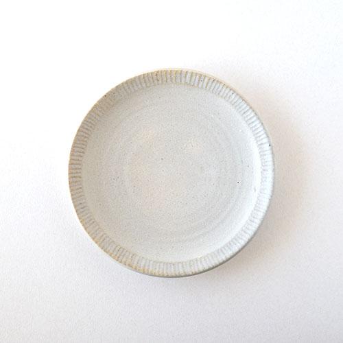 5寸リム皿(陶器・マットホワイト)/森永 淳俊