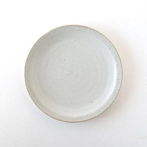 6寸リム皿(陶器・マットホワイト)/森永 淳俊