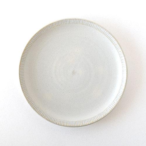 7寸リム皿(陶器・マットホワイト)/森永 淳俊