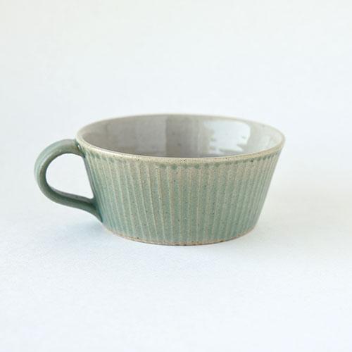 スープカップ【陶器・しのぎ ターコイズ】/森永 淳俊