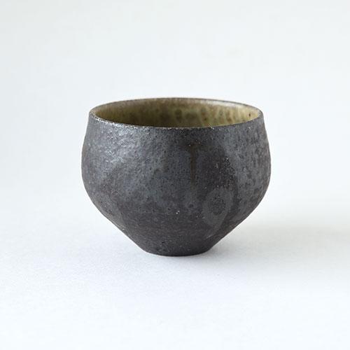 灰釉 ほっこり湯呑・中【陶器】/十河 隆史(T-POTTERY)