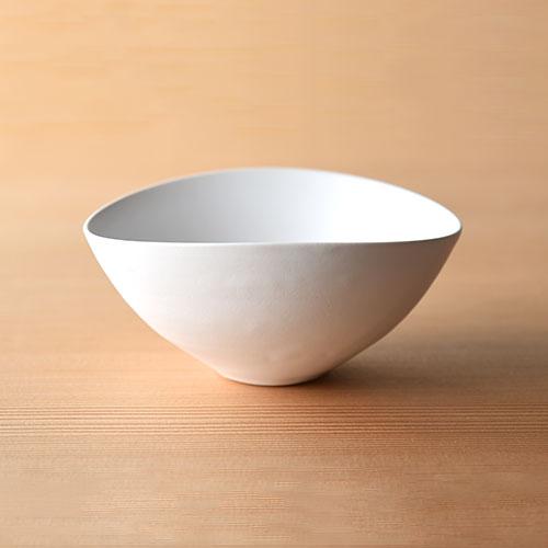白釉 だ円小鉢【陶器】/十河 隆史(T-POTTERY)