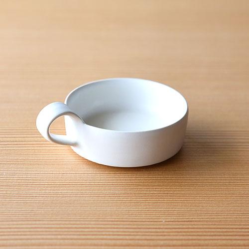 白釉 デミタスカップ・横【陶器】/十河 隆史(T-POTTERY)