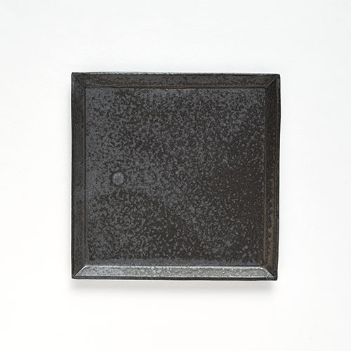 灰釉 四角皿・M【陶器・灰釉】/十河 隆史(T-POTTERY)