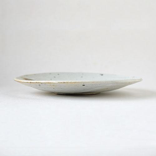 粉引 6寸ろくろ平皿【陶器・粉引】/十河 隆史(T-POTTERY)