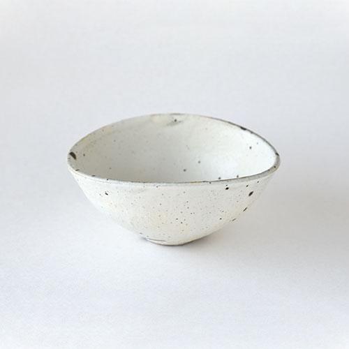 粉引 だ円小鉢【陶器】/十河 隆史