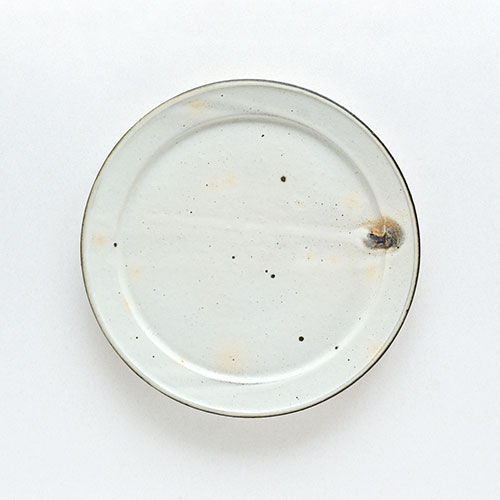 幅広リム皿(直径23cm)/十河 隆史