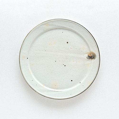 粉引 幅広リム皿(直径23cm)/十河 隆史