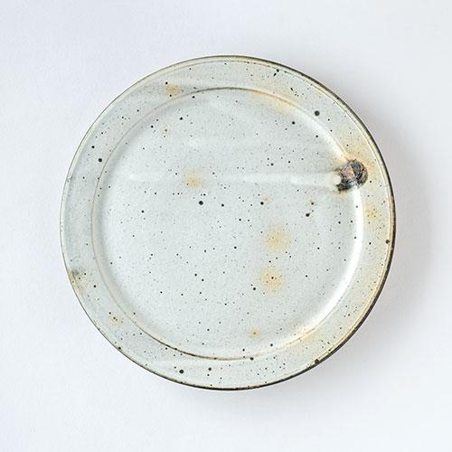 粉引 幅広リム皿・直径26cm/十河 隆史