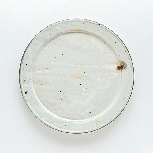 粉引 幅広リム皿(直径26cm)/十河 隆史