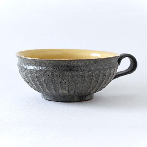 古色しのぎ スープボウル【陶器・しのぎ】/十河 隆史