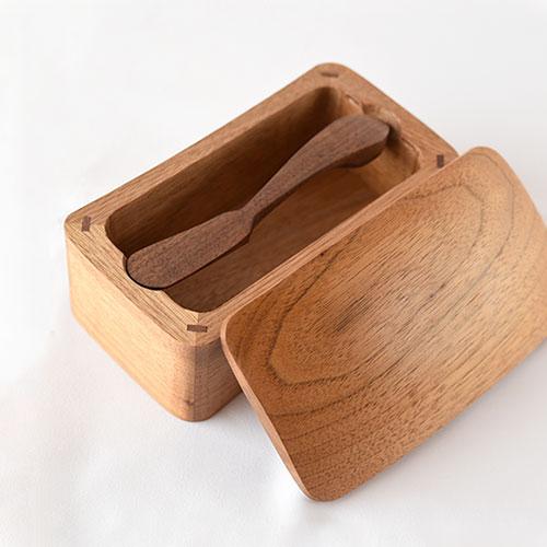 木のバターケースセット/難波 行秀