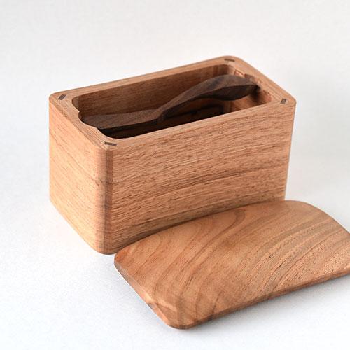 木のバターケースセット・大(カルピスバター用)/難波 行秀