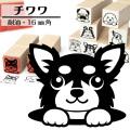 チワワ イラストゴム印【16mm】犬のイラストはんこ