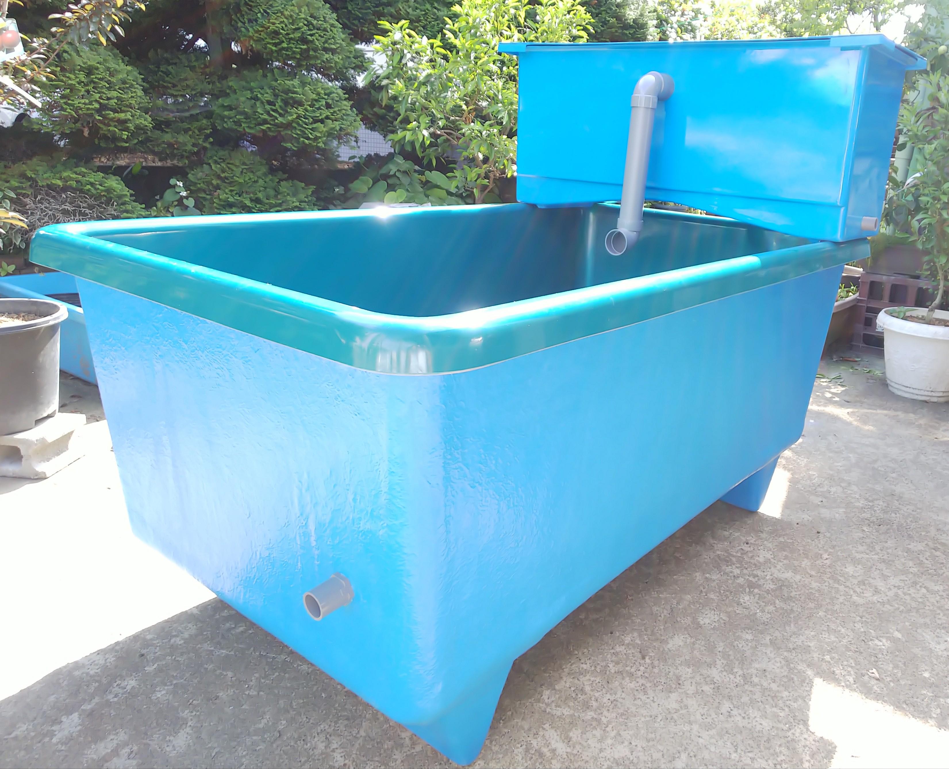 【消費税込】FRP水槽 フルセット(本体・専用濾過槽) SF-800SET