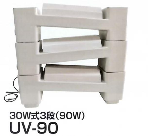 【消費税込・送料無料】 クリーンタワー UV-90(15W殺菌灯2灯付×3段) CLEAN-TOWER-UV-90