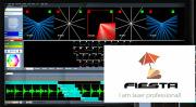Fiesta!(Showtacle社)ライブ操作ビームショー向きILDA レーザー用ソフトウエア