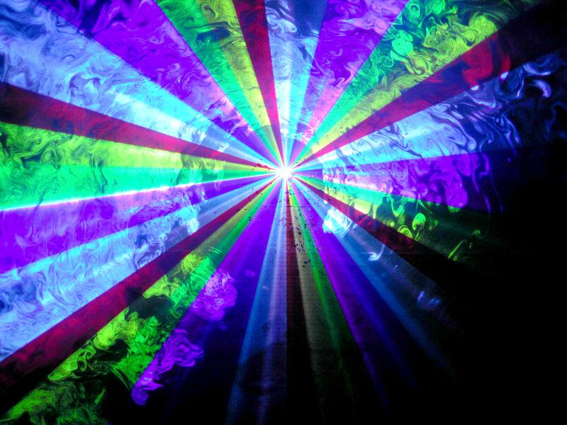 光学式スキャナー 2W RGB 7カラーレーザーライト(レーザービーム)値下げしました。 1本限り