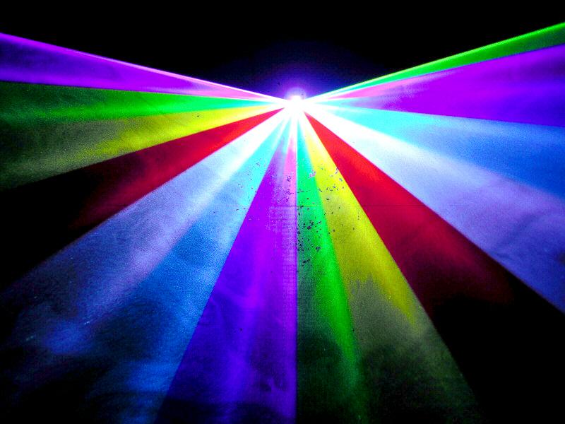 光学式スキャナー 1W RGB 7カラーレーザーライト(レーザービーム)