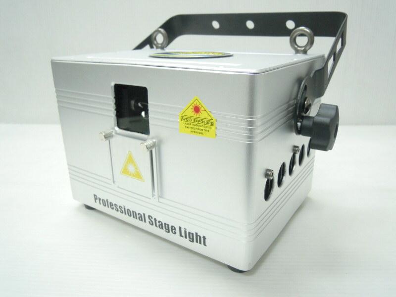 【新製品!】光学式25Kスキャナーインテンシティー機能搭載 3W RGB フルカラーレーザーライト(レーザービーム)