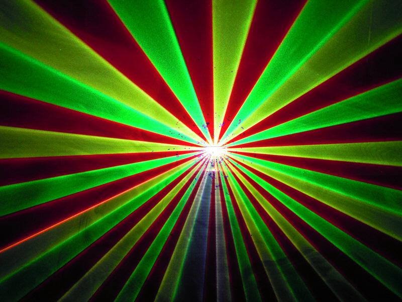 光学式 レッド、グリーン、イエロー3カラーレーザーライト(レーザービーム)300mw