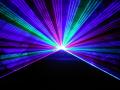 フルカラーレーザー演出実施、4W RGBレーザー1台使用(レンタル)