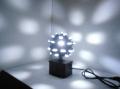 【在庫処分品】手軽にミラーボールのような効果、マジックLEDボール(ホワイト)