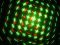 満天の輝く星空? クロスに光る星の大群 ツインクリングレーザーライト(レーザービーム)