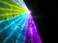 超小型 RGB 7カラーレーザーライト(レーザービーム)400mw DMX、ILDA対応