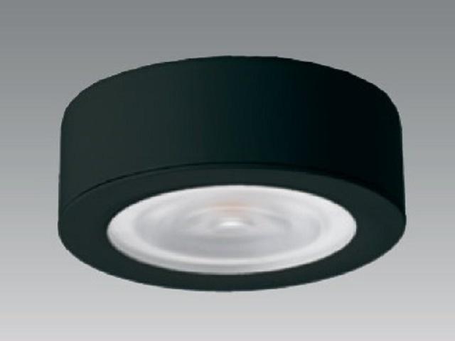 【即納】 UNITY/ユニティ LED家具・什器照明 LED棚下ダウンライト JR12V20W相当 超薄型 100V直結 直付用枠付 色温度3000K 本体ブラック ☆コインエース☆ UDL-1907B-30+UZL-1900B