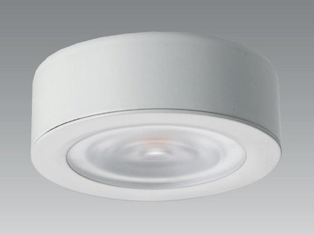 【即納】 UNITY/ユニティ LED家具・什器照明 LED棚下ダウンライト JR12V20W相当 超薄型 100V直結 直付用枠付 色温度3000K 本体白 ☆コインエース☆ UDL-1907W-30+UZL-1900W