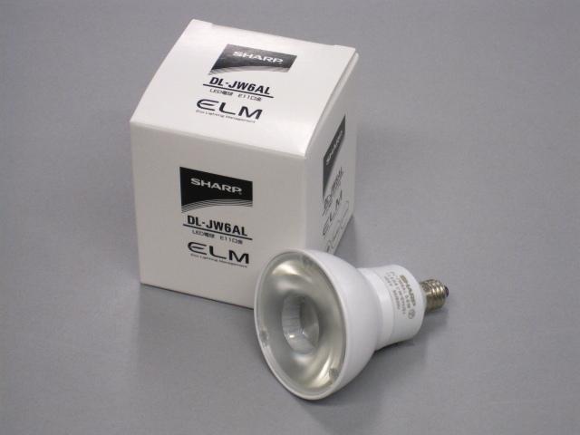 【即納】 SHARP/シャープ LED電球 JDR50W相当 調光対応 径50mm E11 色温度2700K 広角 本体ホワイト ☆100V ダイクロハロゲン電球代替タイプ☆ DL-JW6AL