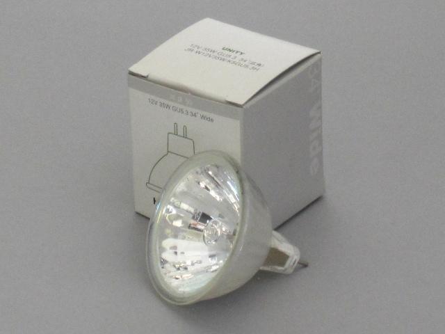 【即納】 UNITY/ユニティ ハロゲン電球 JR12V35W 径50mm GU5.3 広角 ☆ダイクロハロゲン12V用☆ JR-W12V35W/K5-GU5.3H