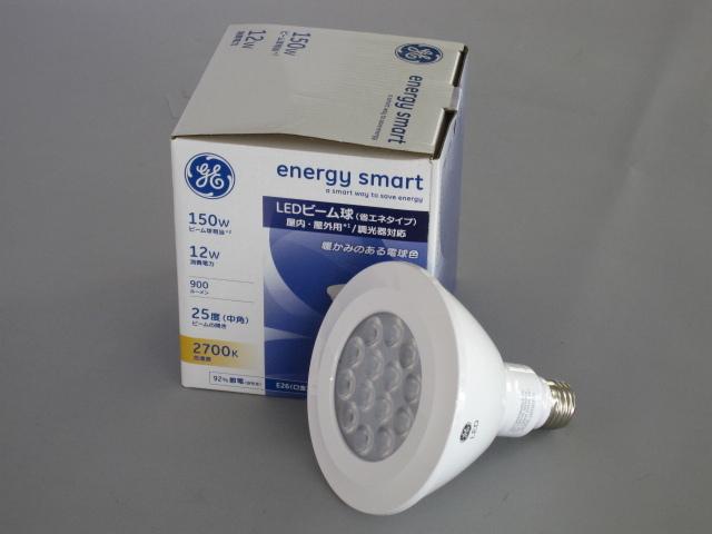 【在庫限り】 GE/ジーイー LED電球 省エネ型 ビーム電球100W相当 調光対応 E26 色温度2700K 25°☆LEDビームランプ☆ LED12DP38W827/25/E26/JP