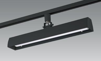【即納】 UNITY/ユニティ ダクトレール取付LEDベースライト 自在型 450mm 色温度3000K 本体ブラック ☆LEDレールライト スィングベース☆ UFL-8450B-30