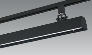 【即納】 UNITY/ユニティ ダクトレール取付LEDベースライト 自在型 600mm 色温度3000K 本体ブラック ☆LEDレールライト スィングベース☆ UFL-8451B-30