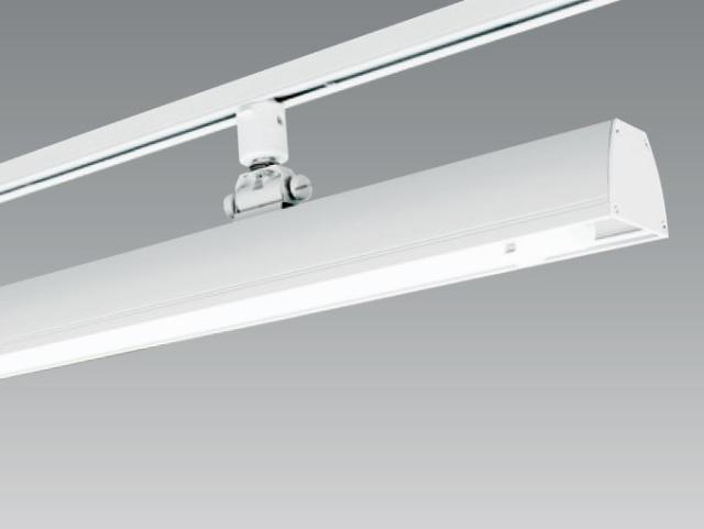 【即納・在庫限り】 UNITY/ユニティ ダクトレール取付LEDベースライト 自在型 ハイパワー仕様 1200mm 色温度5000K 本体ホワイト ☆LEDレールライト スィングベース☆ UFL-8452W-50-T