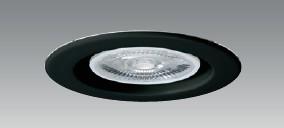 【即納】 UNITY/ユニティ LEDダウンライト 埋込穴75mm 本体ブラック ☆100V LEDダイクロハロゲン電球交換可能型 ベースダウン☆ UDL-155B ※LED電球別売