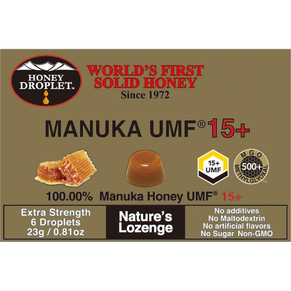 ハニードロップレット UMF15+ マヌカ 23g(6粒)