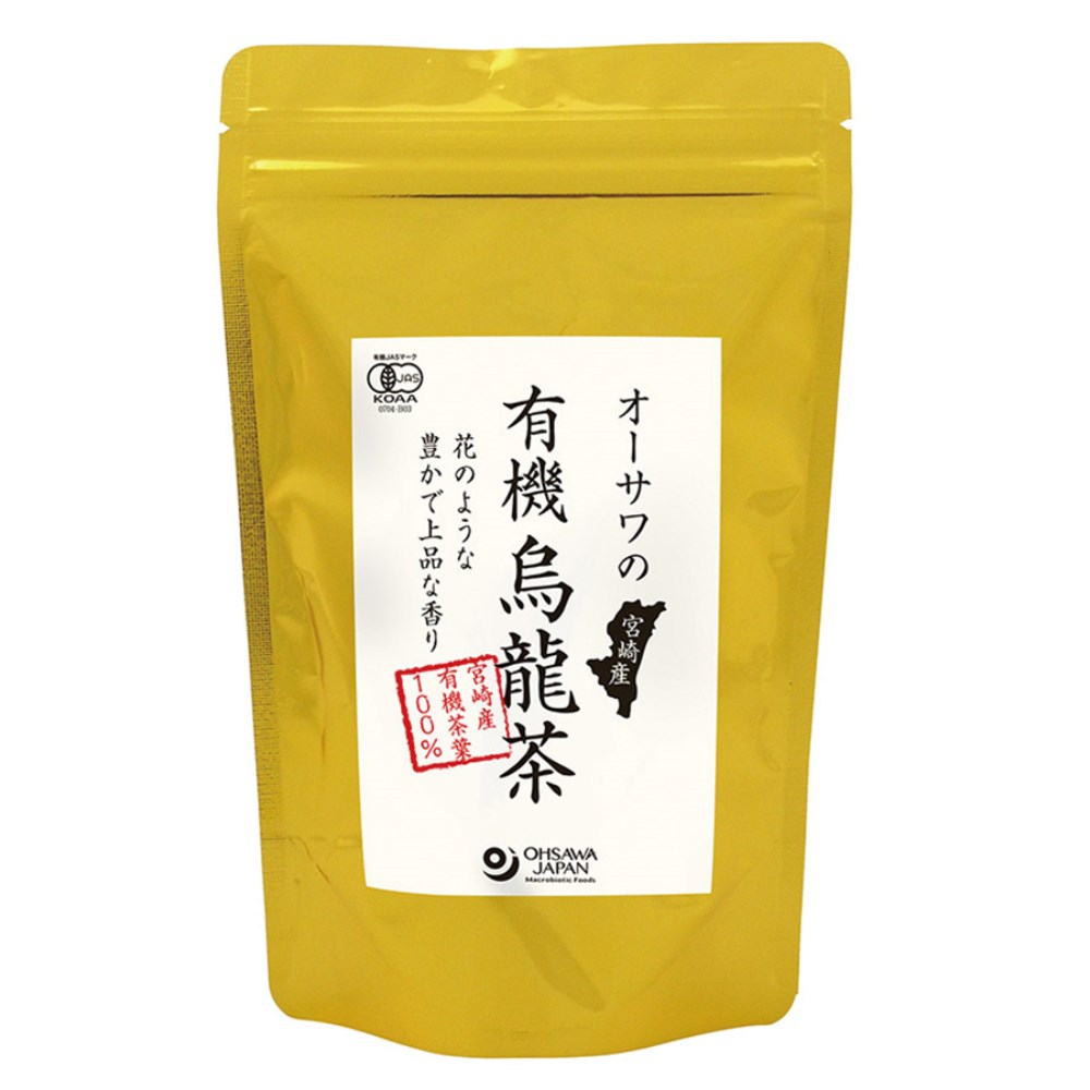 オーサワの宮崎産有機烏龍茶 60g