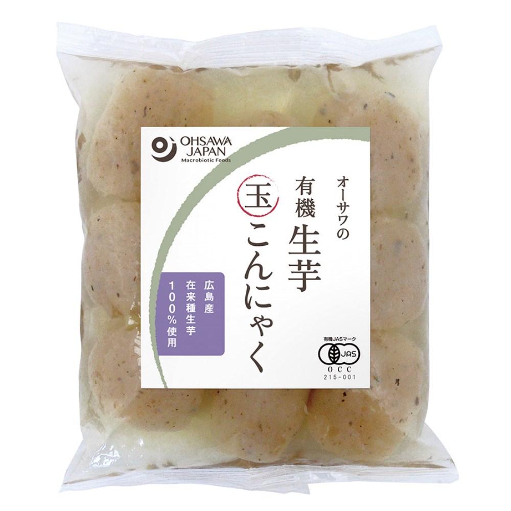 オーサワの有機 生芋玉こんにゃく 180【季節品の為お休み中】