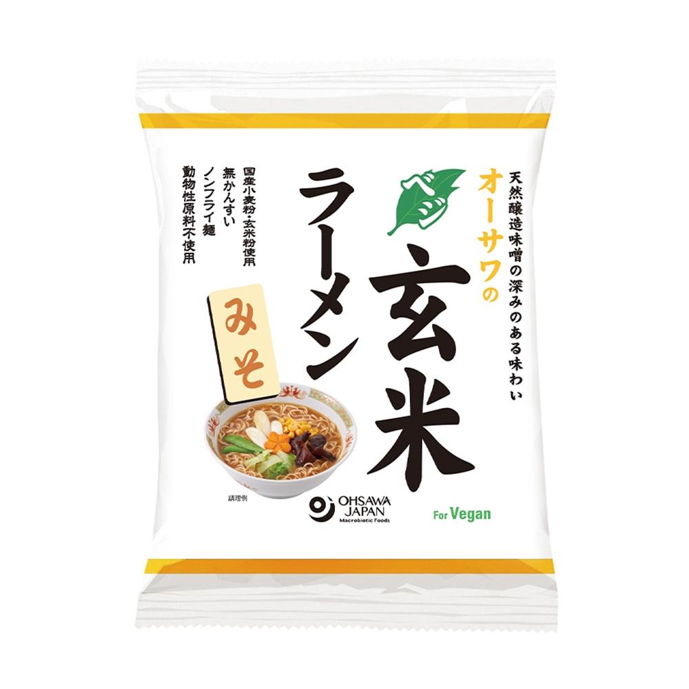 オーサワのベジ玄米ラーメン(みそ) 118g(うち麺80g)