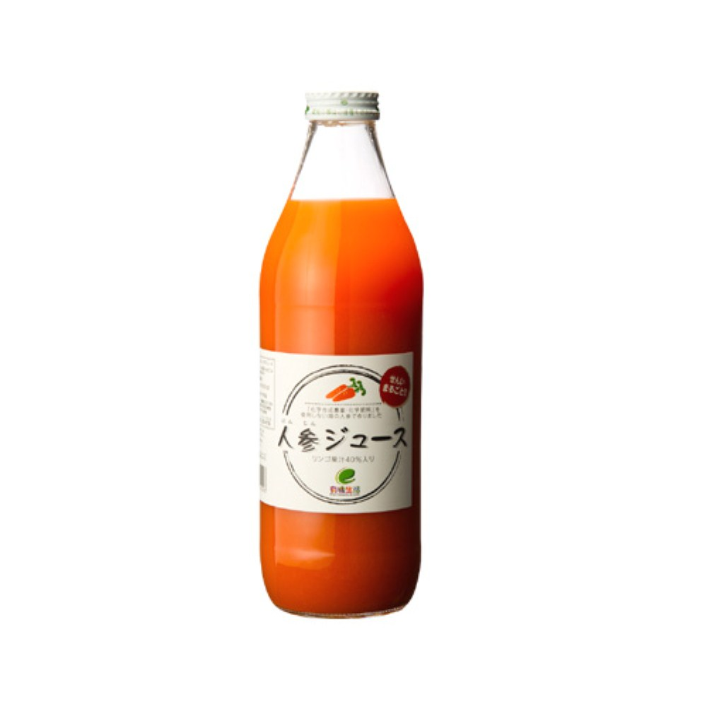 有機生活の人参ジュース(りんご果汁入り) 1000ml