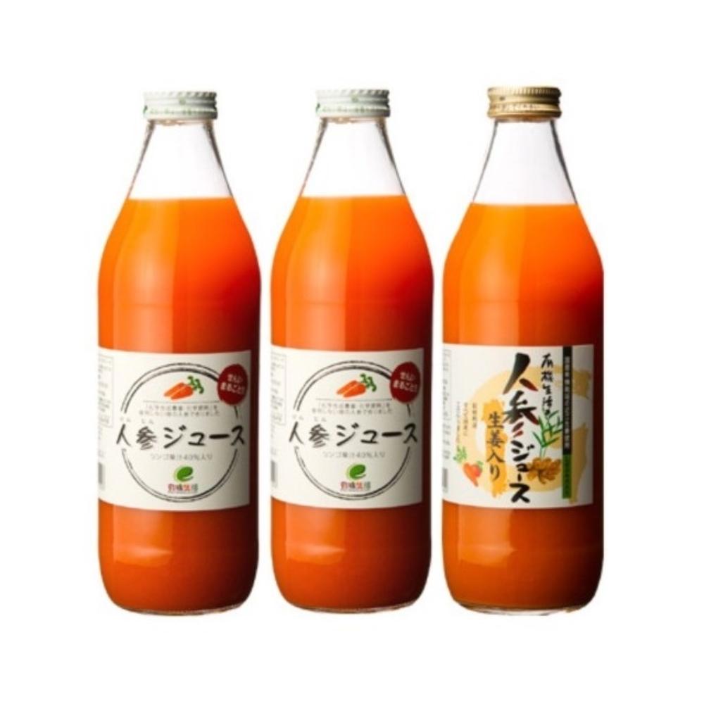 【リマ特選産直品】 イー・有機生活 人参ジュース2本+生姜入1本(各1,000ml)