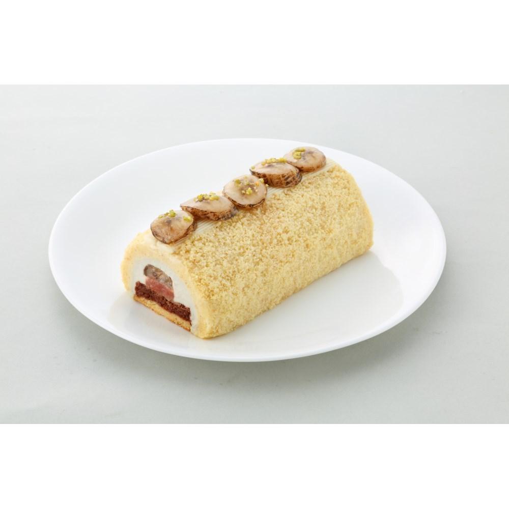 【カムカム倶楽部特選品】 ビオクラ 焼きバナナとリュバーブのロール カットなし 1本(約500g)