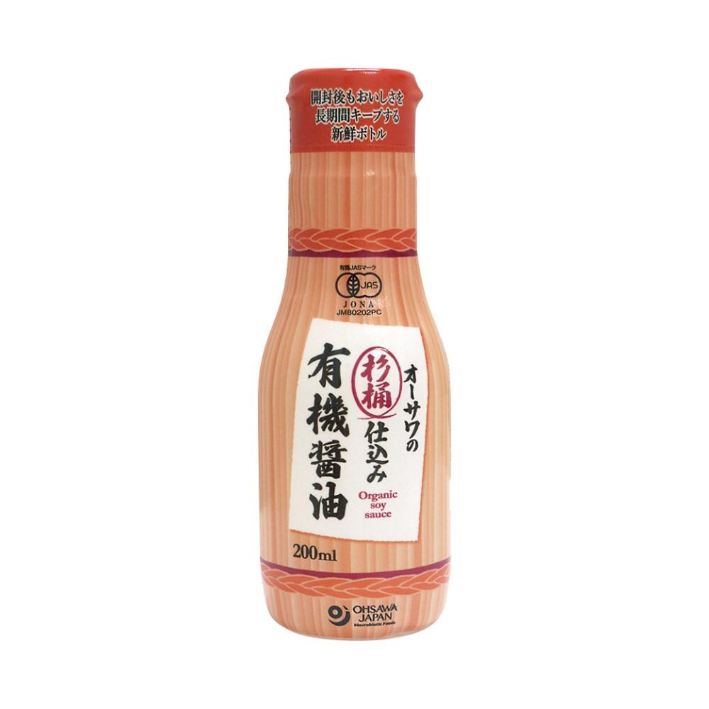 杉桶仕込み有機醤油(新鮮ボトル) 200ml